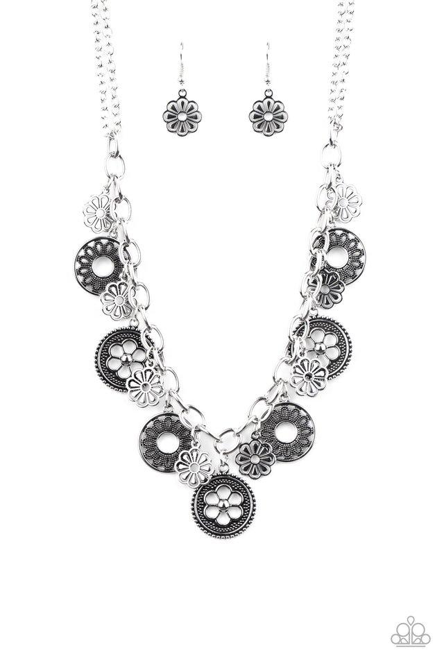 Meadow Masquerade - Silver - Paparazzi Necklace Image