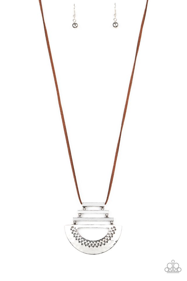 Rise and SHRINE - Brown - Paparazzi Necklace Image
