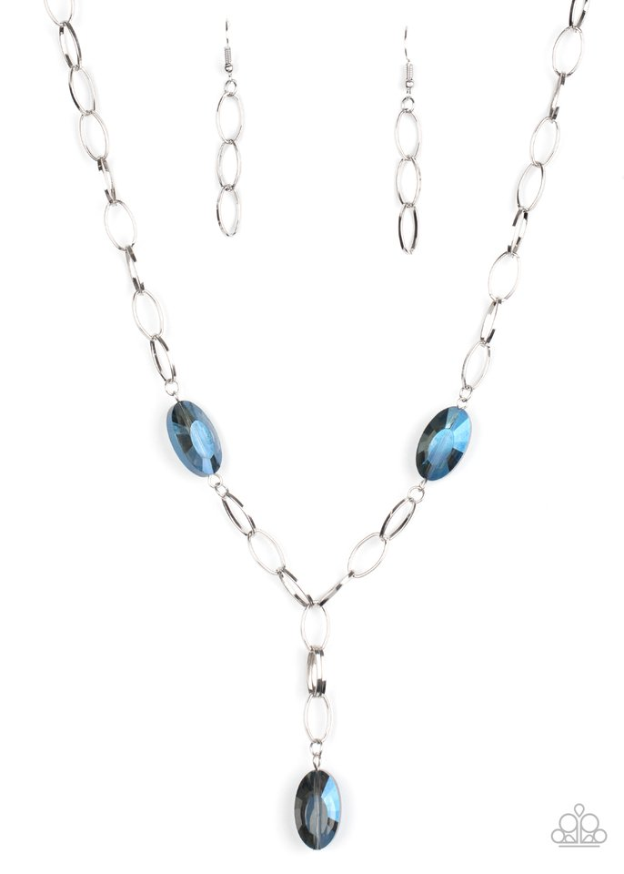 Power Up - Blue - Paparazzi Necklace Image
