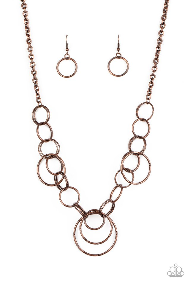 Ringing Relic - Copper - Paparazzi Necklace Image