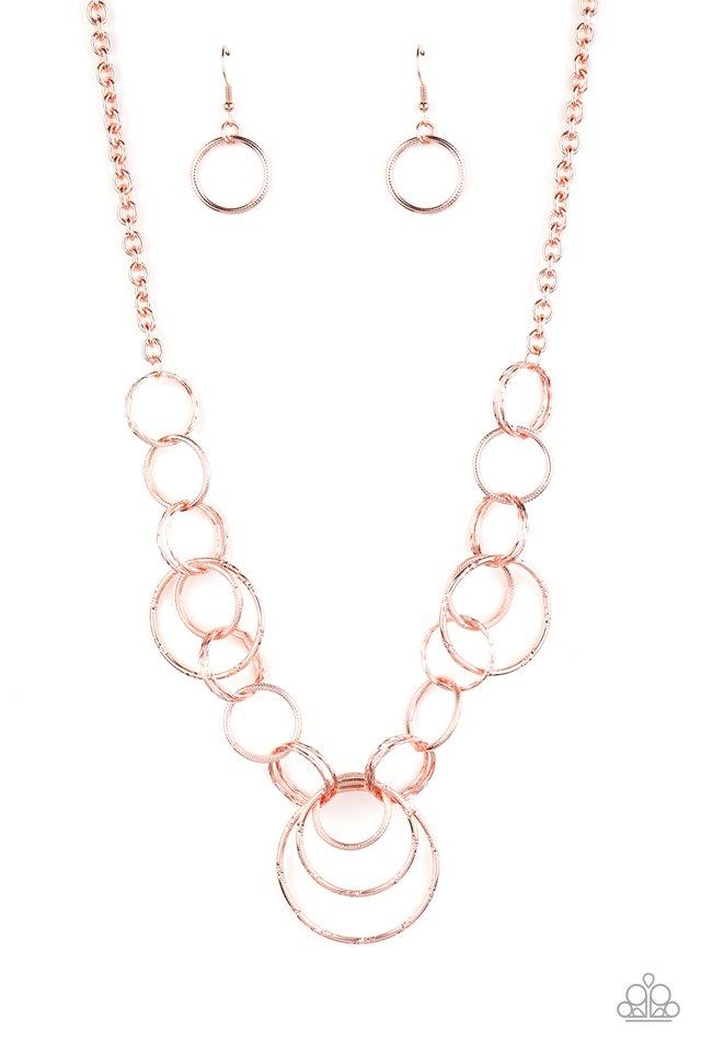 Ringing Relic - Rose Gold - Paparazzi Necklace Image