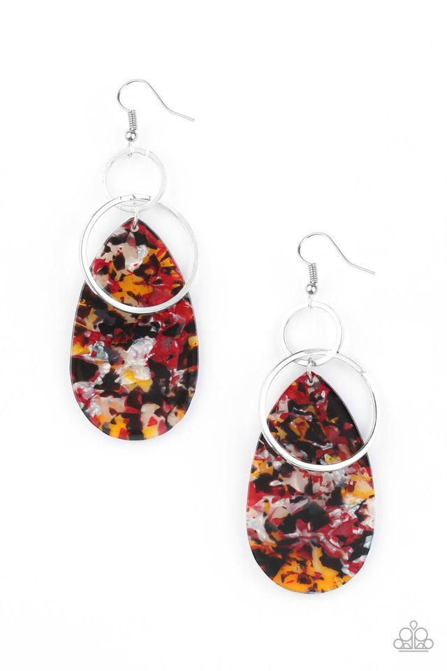 Two Tickets To Paradise - Multi - Paparazzi Earring Image