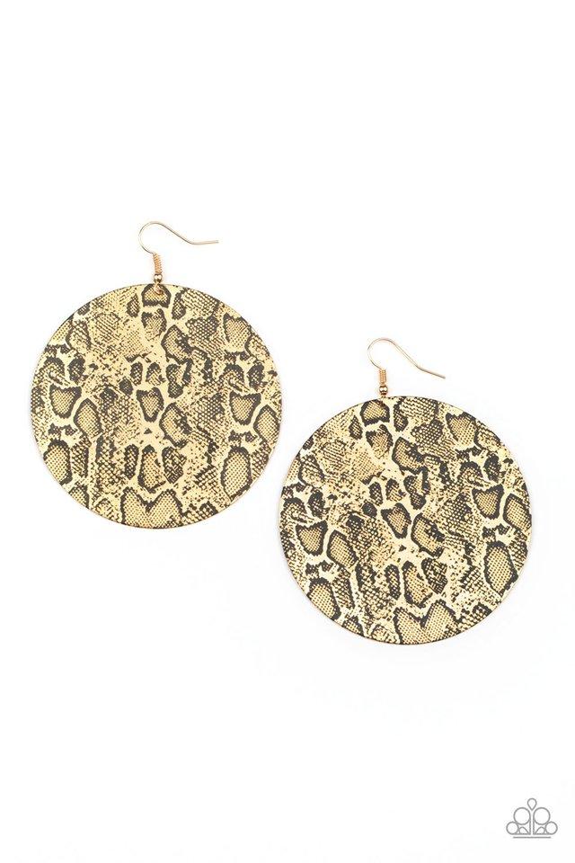 Animal Planet - Gold - Paparazzi Earring Image