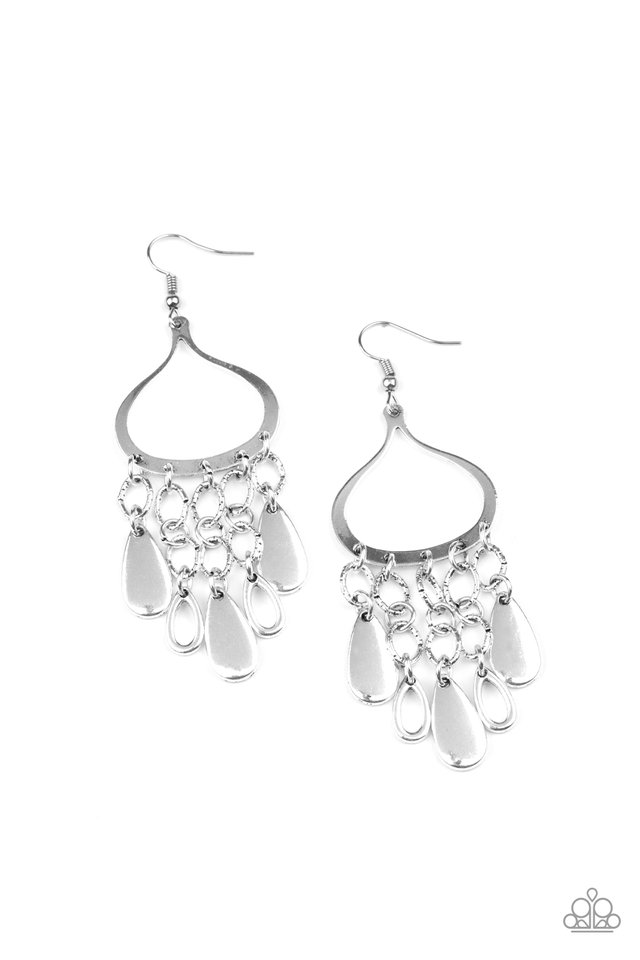 Lure Away - Silver - Paparazzi Earring Image
