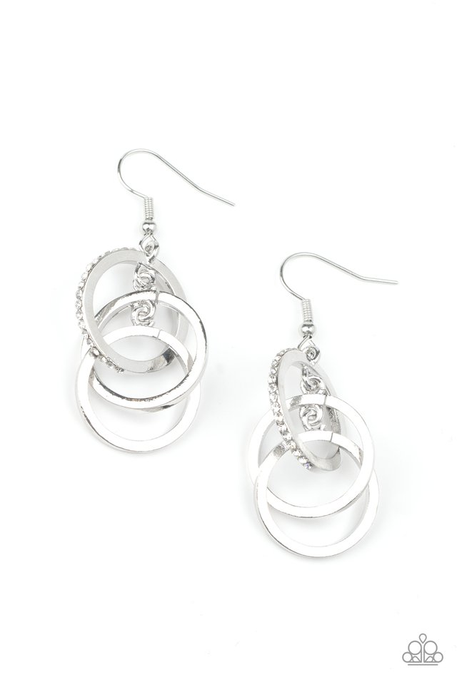 Fiercely Fashionable - White - Paparazzi Earring Image