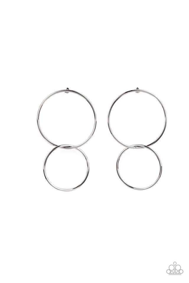 City Simplicity - Silver - Paparazzi Earring Image