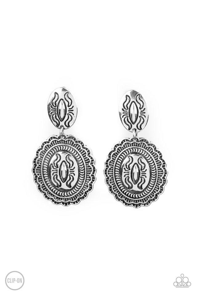 Ageless Artifact - Silver - Paparazzi Earring Image