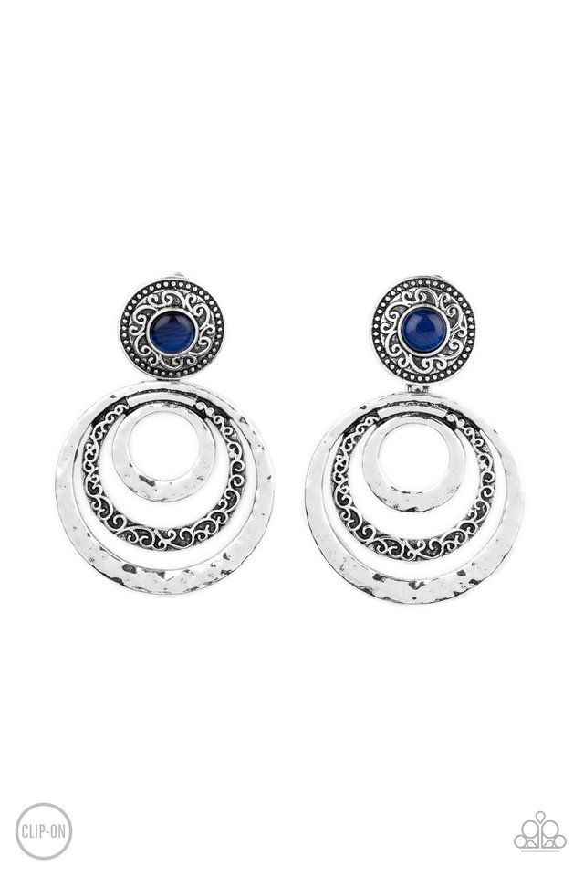 Bare Your Soul - Blue - Paparazzi Earring Image