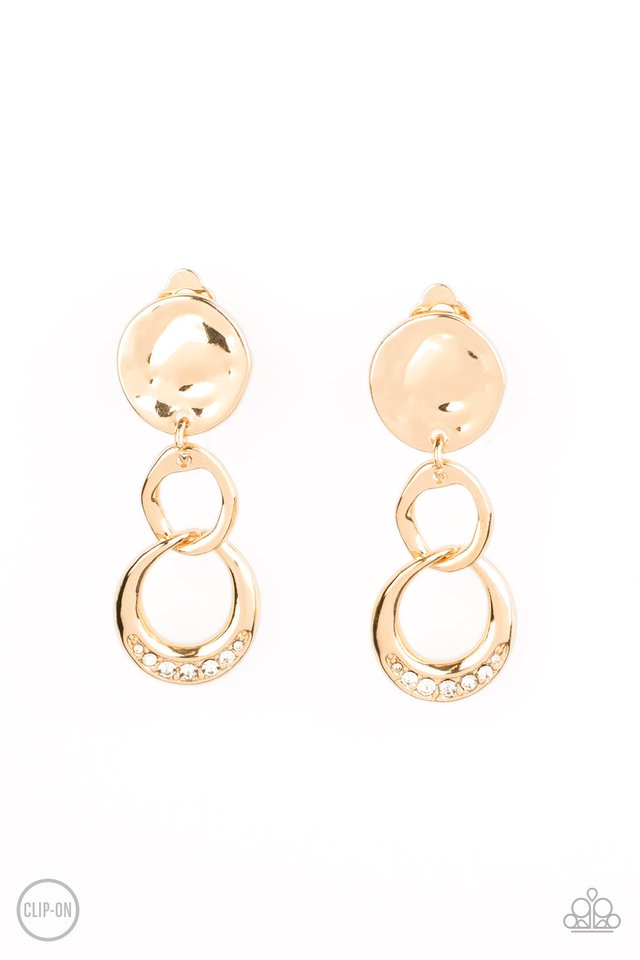 Reshaping Refinement - Gold - Paparazzi Earring Image