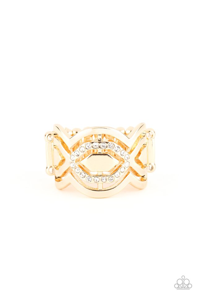 Divinely Deco - Gold - Paparazzi Ring Image