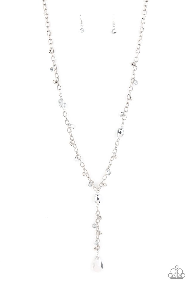 Afterglow Party - Silver - Paparazzi Necklace Image
