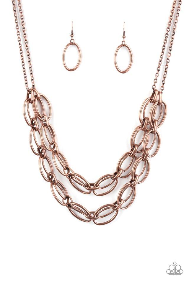 Status Quo - Copper - Paparazzi Necklace Image