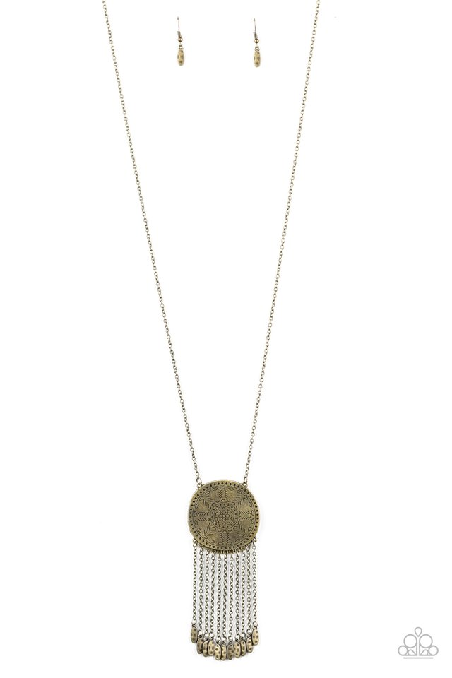 Natures Melody - Brass - Paparazzi Necklace Image