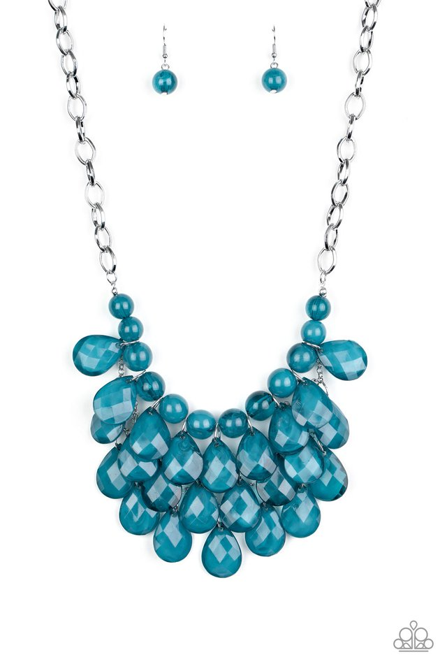 Sorry To Burst Your Bubble - Blue - Paparazzi Necklace Image