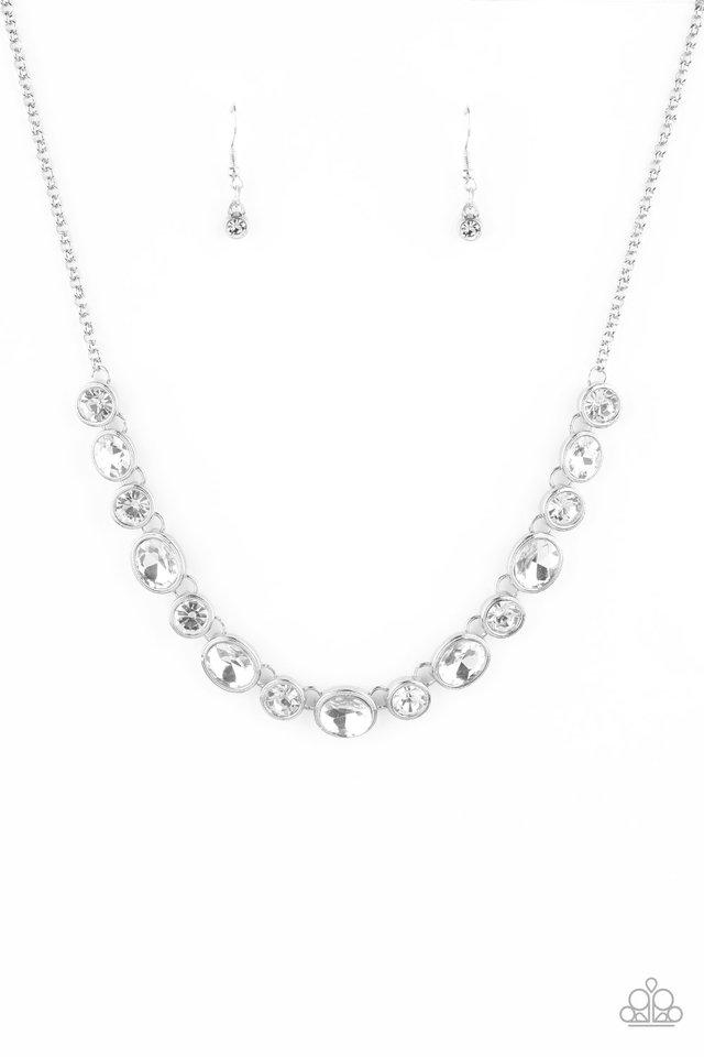 Girls Gotta Glow - White - Paparazzi Necklace Image