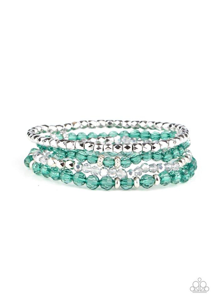 Crystal Crush - Green - Paparazzi Bracelet Image