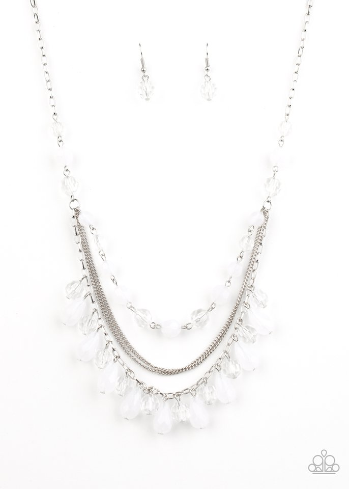 Awe-Inspiring Iridescence - White - Paparazzi Necklace Image