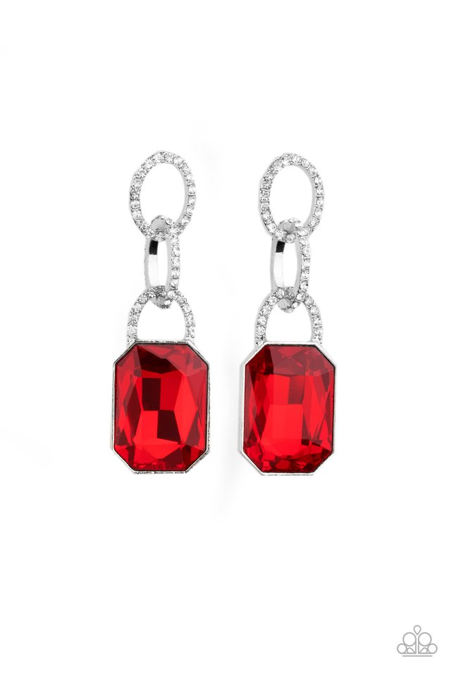 Superstar Status - Red - Paparazzi Earring Image