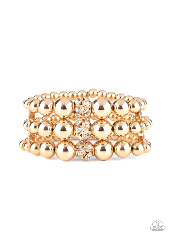 Icing On The Top - Gold - Paparazzi Bracelet Image