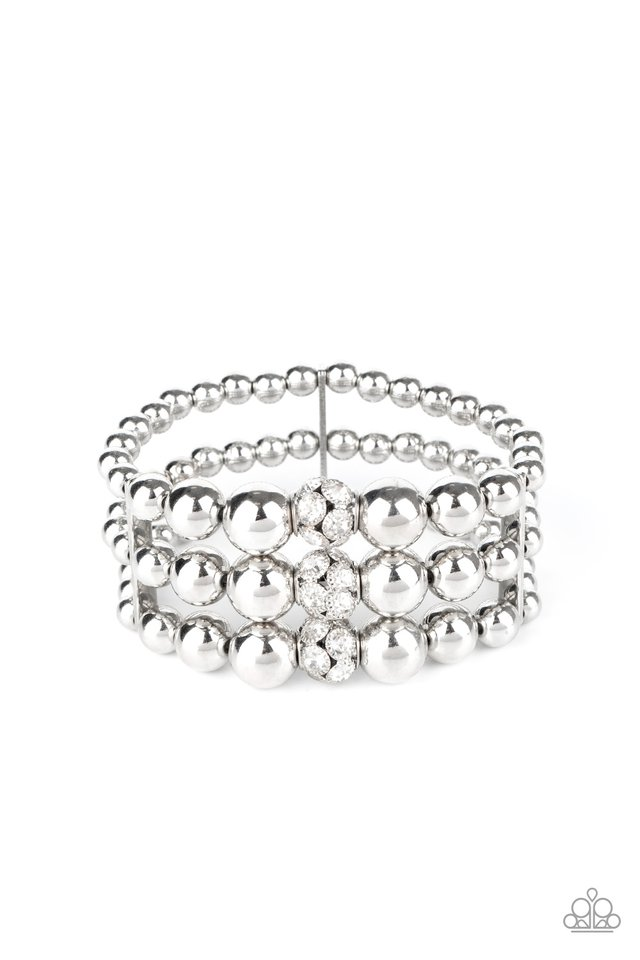 Icing On The Top - White - Paparazzi Bracelet Image