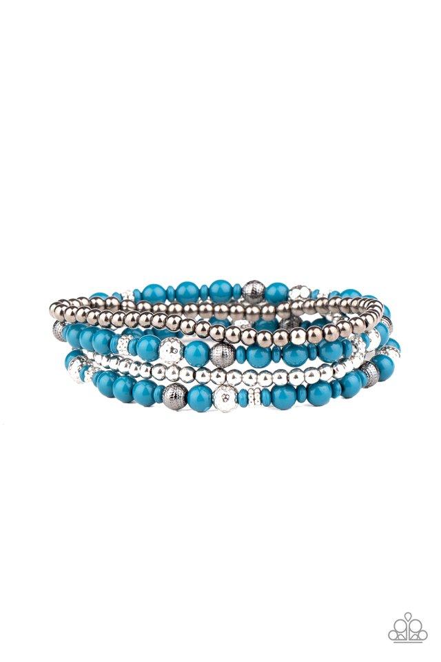 Stacked Style Maker - Blue - Paparazzi Bracelet Image