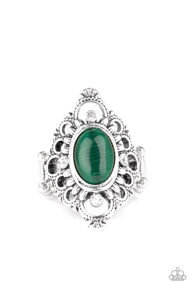 Elegantly Enchanted - Green - Paparazzi Ring Image