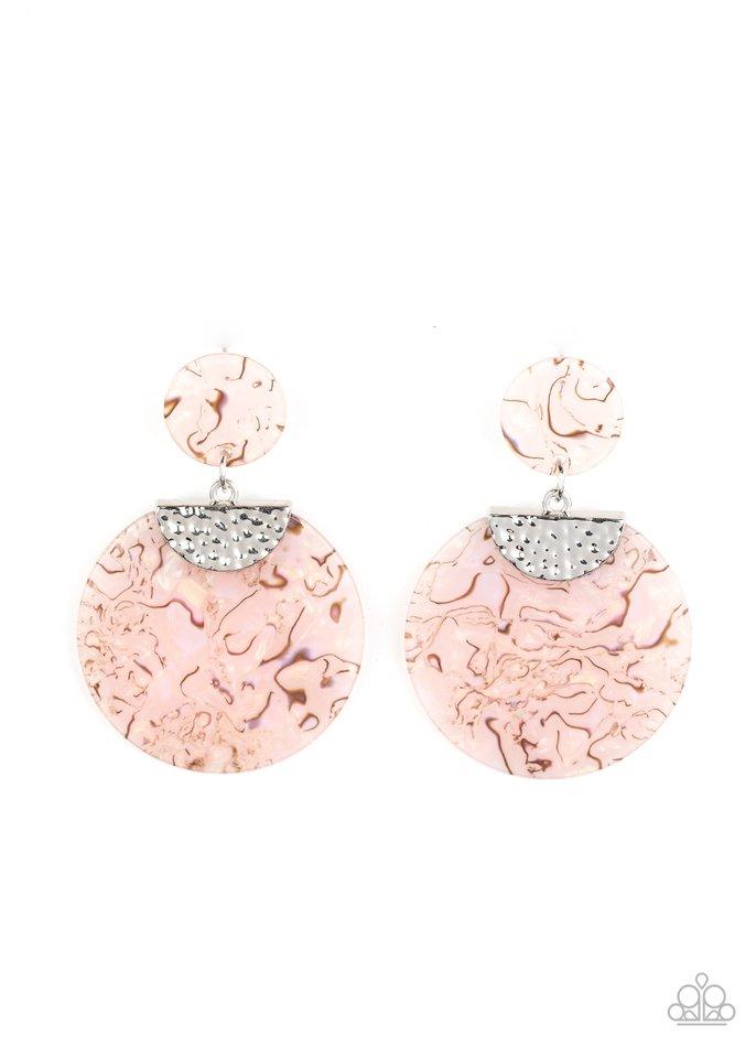 Really Retro-politan - Pink - Paparazzi Earring Image