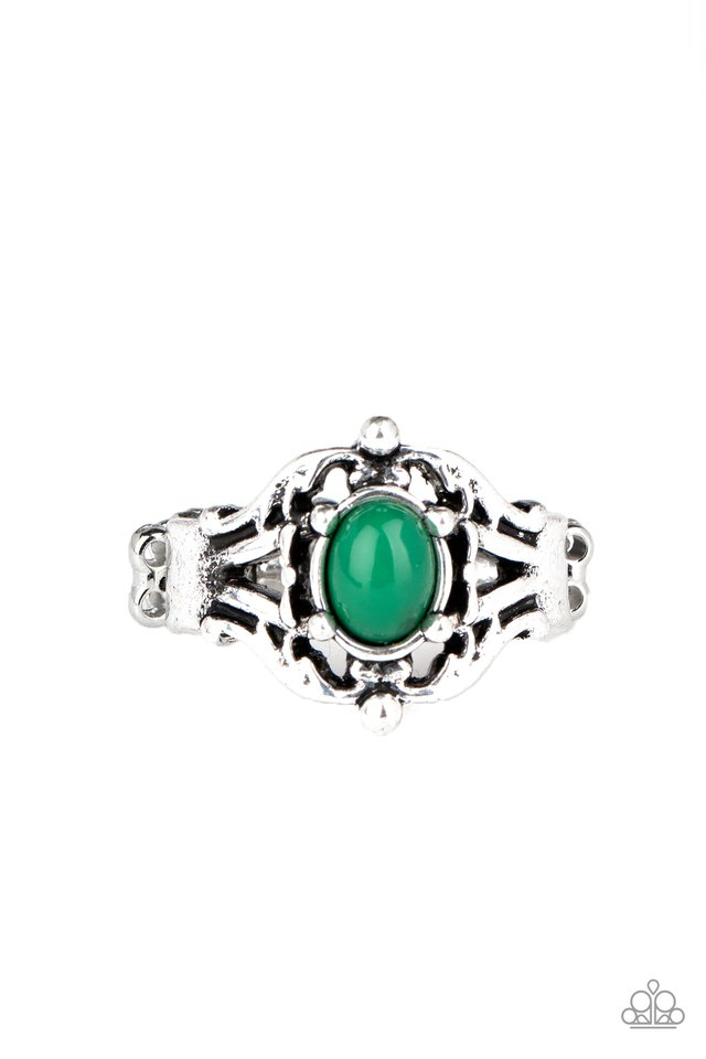 Posh Pop - Green - Paparazzi Ring Image