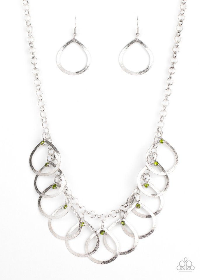 Drop By Drop - Green - Paparazzi Necklace Image