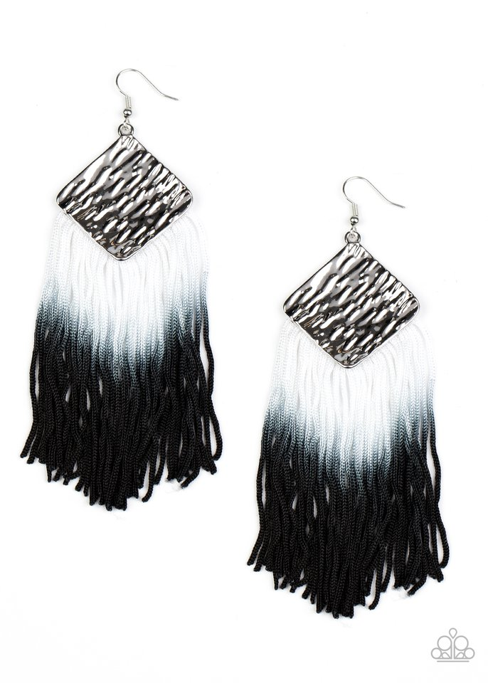 DIP The Scales - Black - Paparazzi Earring Image
