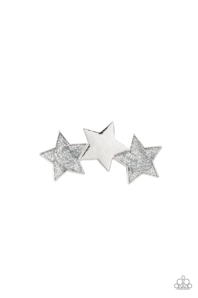 Dont Get Me STAR-ted!- Silver - Paparazzi Hair Accessories Image