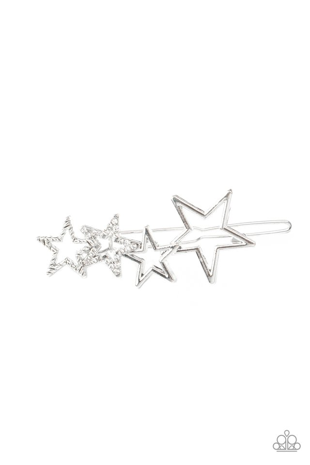 From STAR To Finish - White - Paparazzi Hair Accessories Image