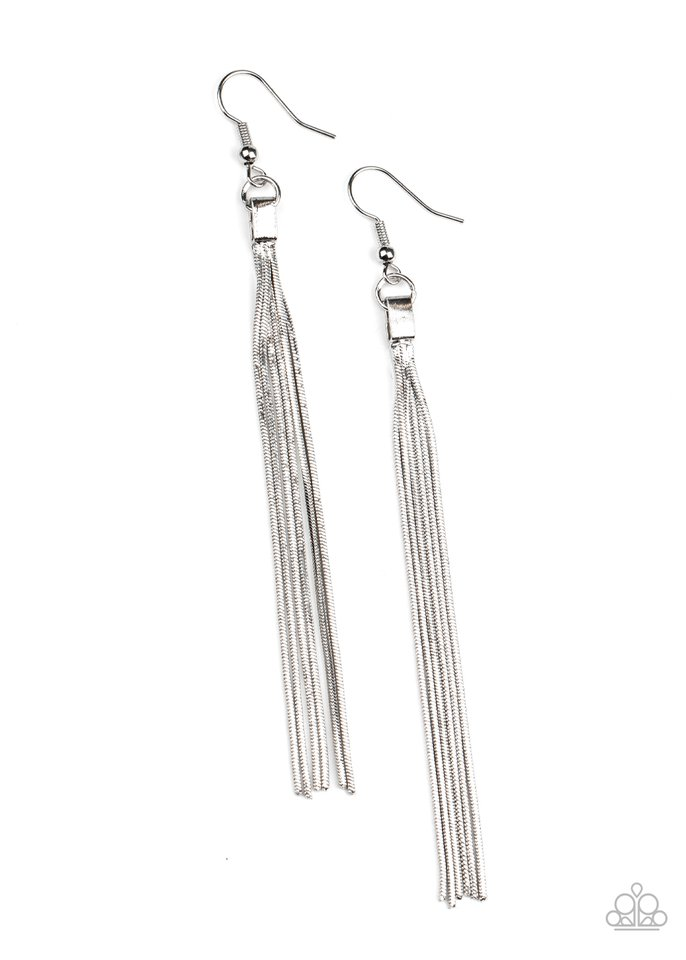 Swing Into Action - Silver - Paparazzi Earring Image