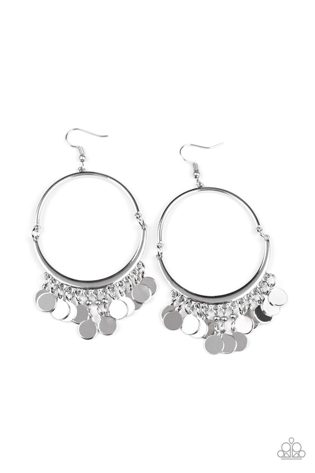 Speed of SPOTLIGHT - Silver - Paparazzi Earring Image