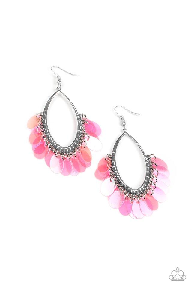 Mermaid Magic - Pink - Paparazzi Earring Image