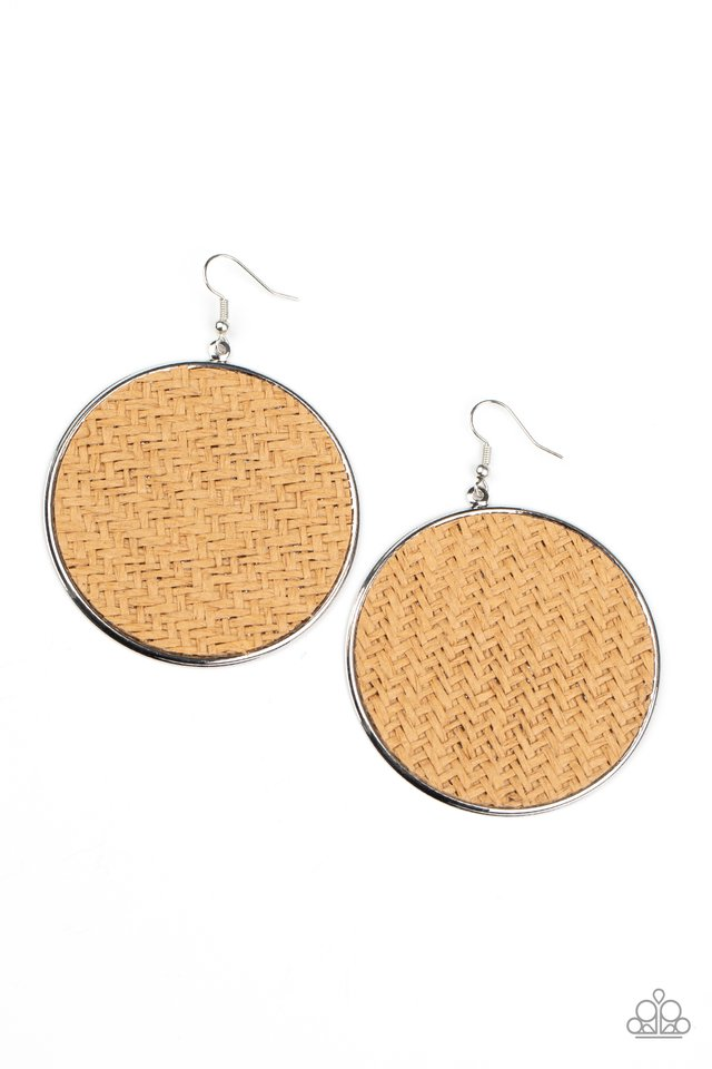 Wonderfully Woven - Brown - Paparazzi Earring Image
