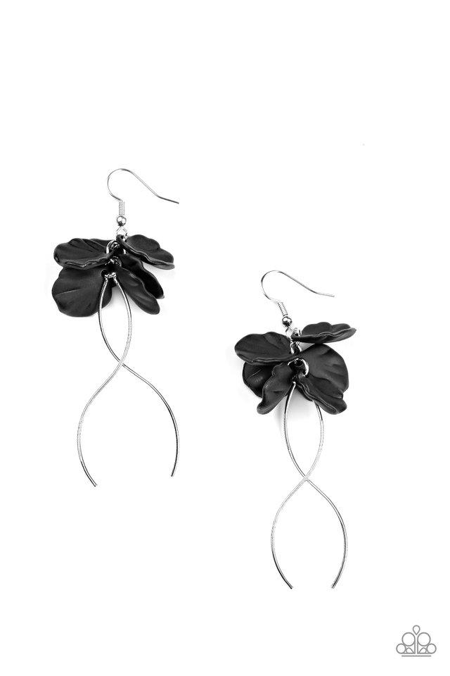 Lets Keep It ETHEREAL- Black - Paparazzi Earring Image