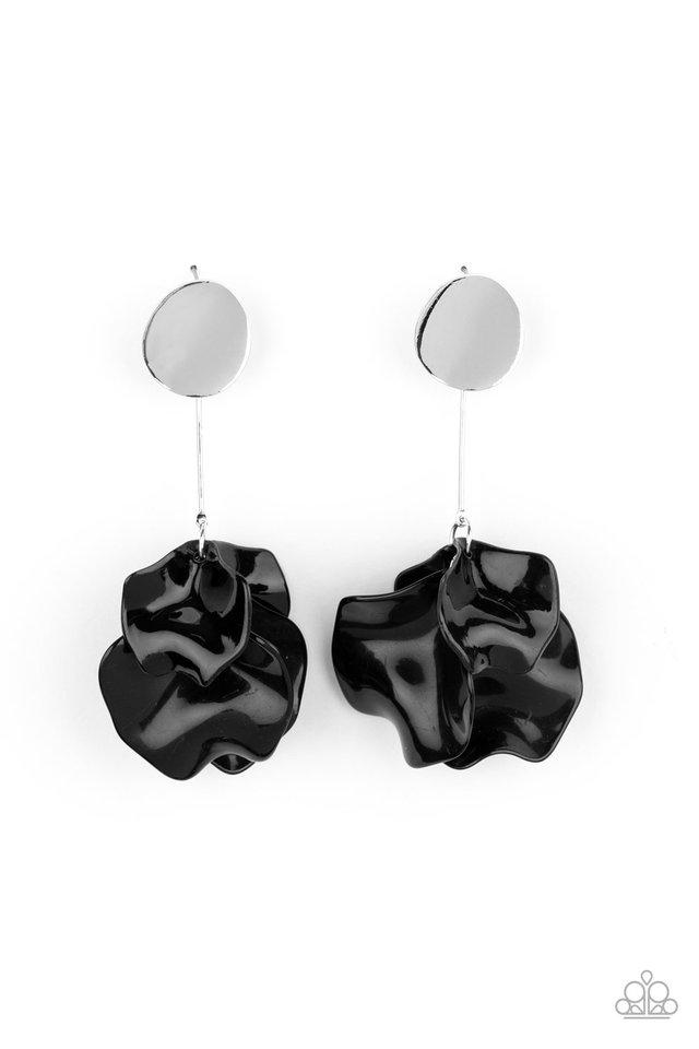 Petal Pathways - Black - Paparazzi Earring Image