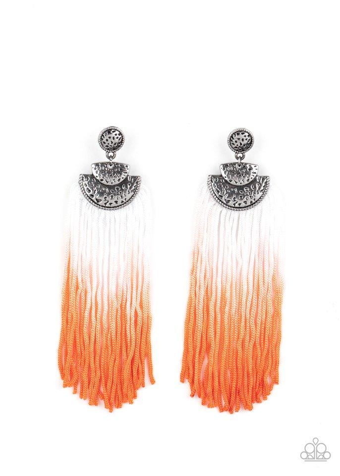 DIP It Up - Orange - Paparazzi Earring Image
