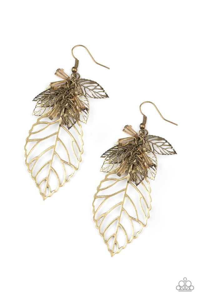 Instant Re-LEAF - Brass - Paparazzi Earring Image