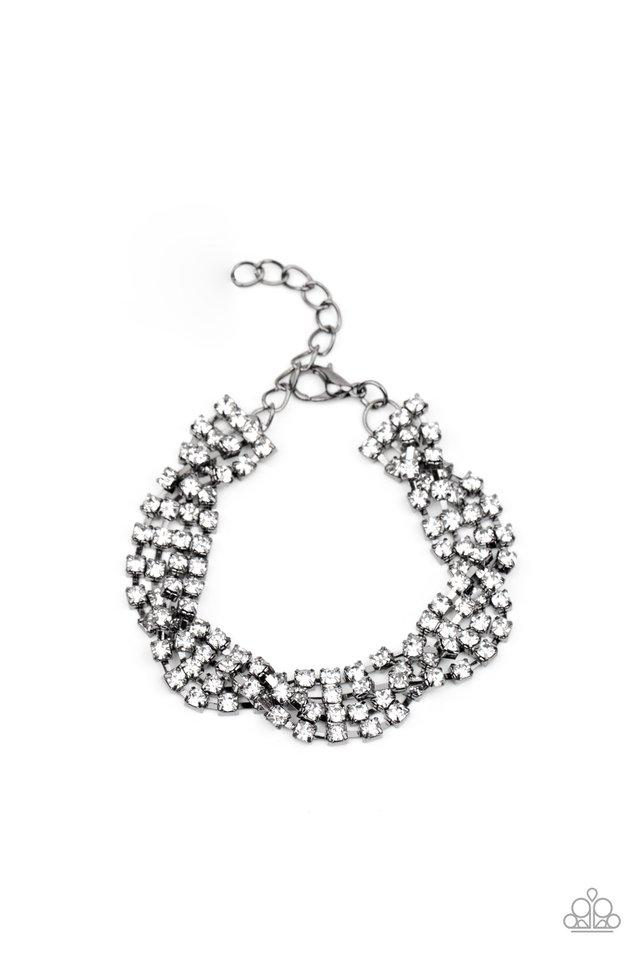 Twists and Turns - Black - Paparazzi Bracelet Image