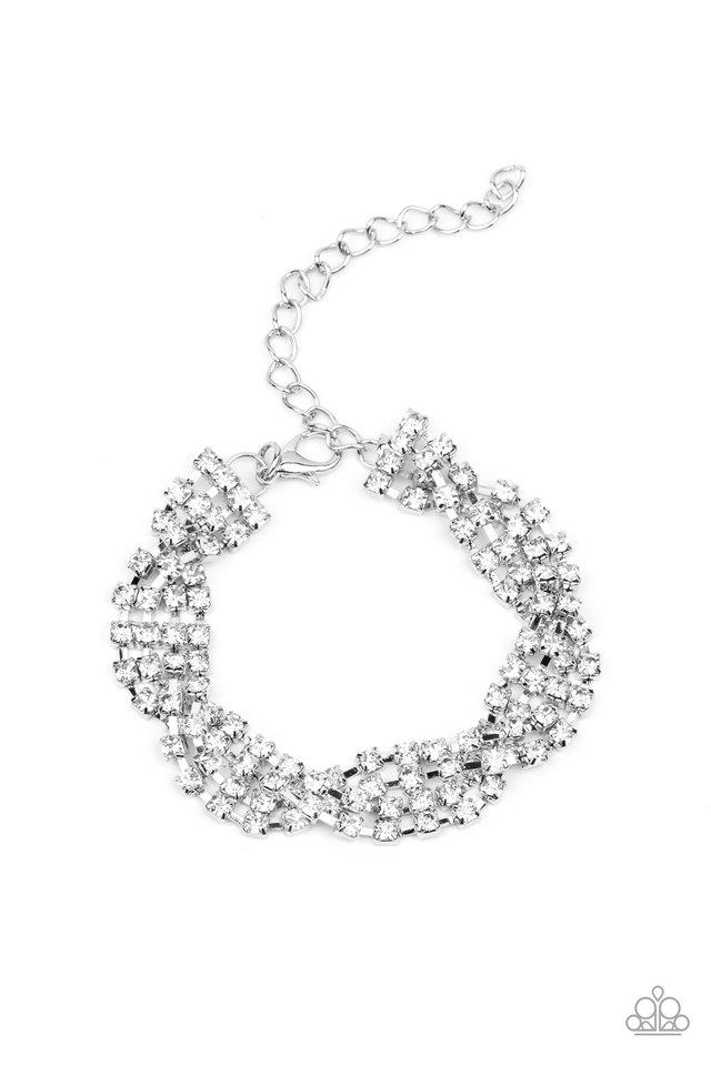 Twists and Turns - White - Paparazzi Bracelet Image