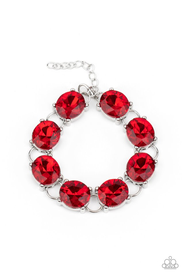Mind Your Manners - Red - Paparazzi Bracelet Image