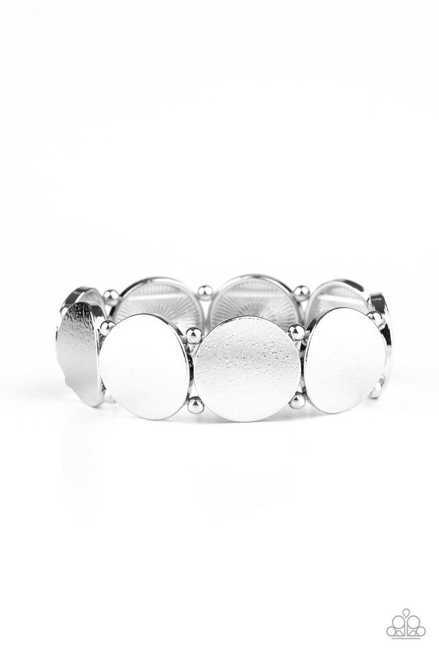 Metallic Spotlight - Silver - Paparazzi Bracelet Image