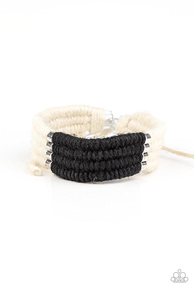 Hot Cross BUNGEE - Black - Paparazzi Bracelet Image