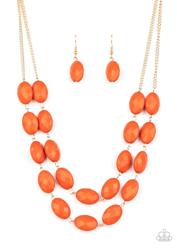 Max Volume - Orange - Paparazzi Necklace Image
