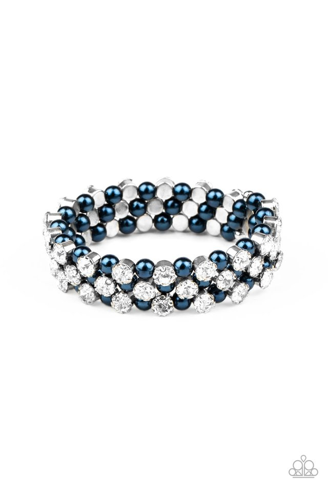 Metro Motif - Blue - Paparazzi Bracelet Image