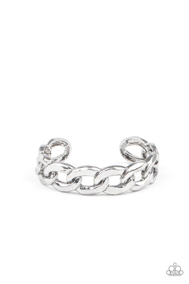 Living Off The GRIT - Silver - Paparazzi Bracelet Image