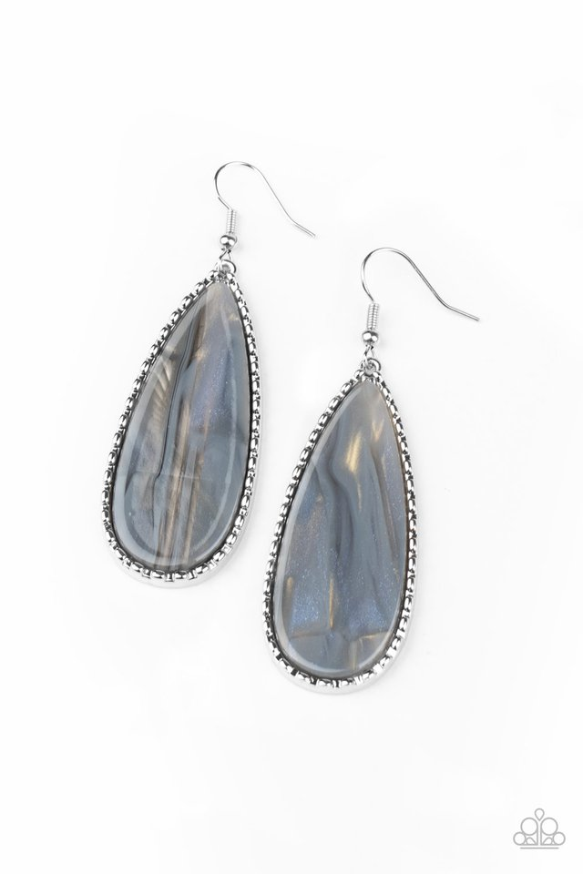 Ethereal Eloquence - Silver - Paparazzi Earring Image