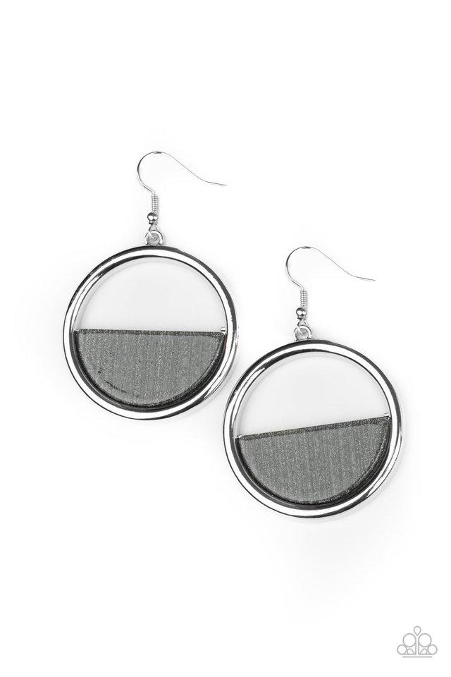 Stuck in Retrograde - Silver - Paparazzi Earring Image